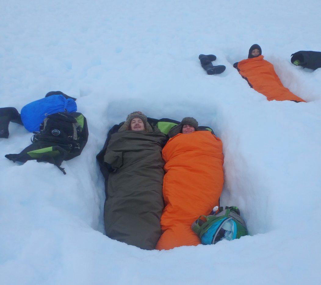 Base camp sleeping