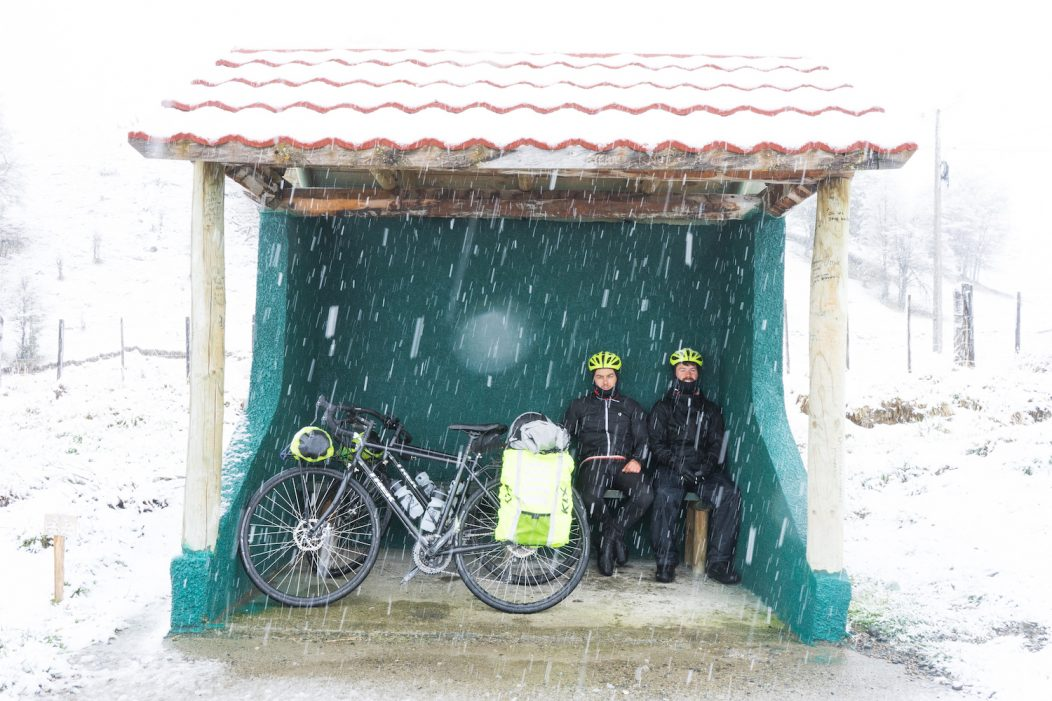 Biking in snow Tempest Two
