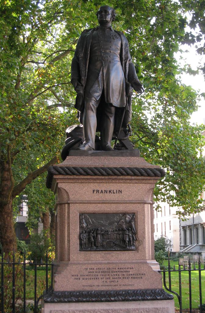 John Franklin's memorial at Waterloo Place, London