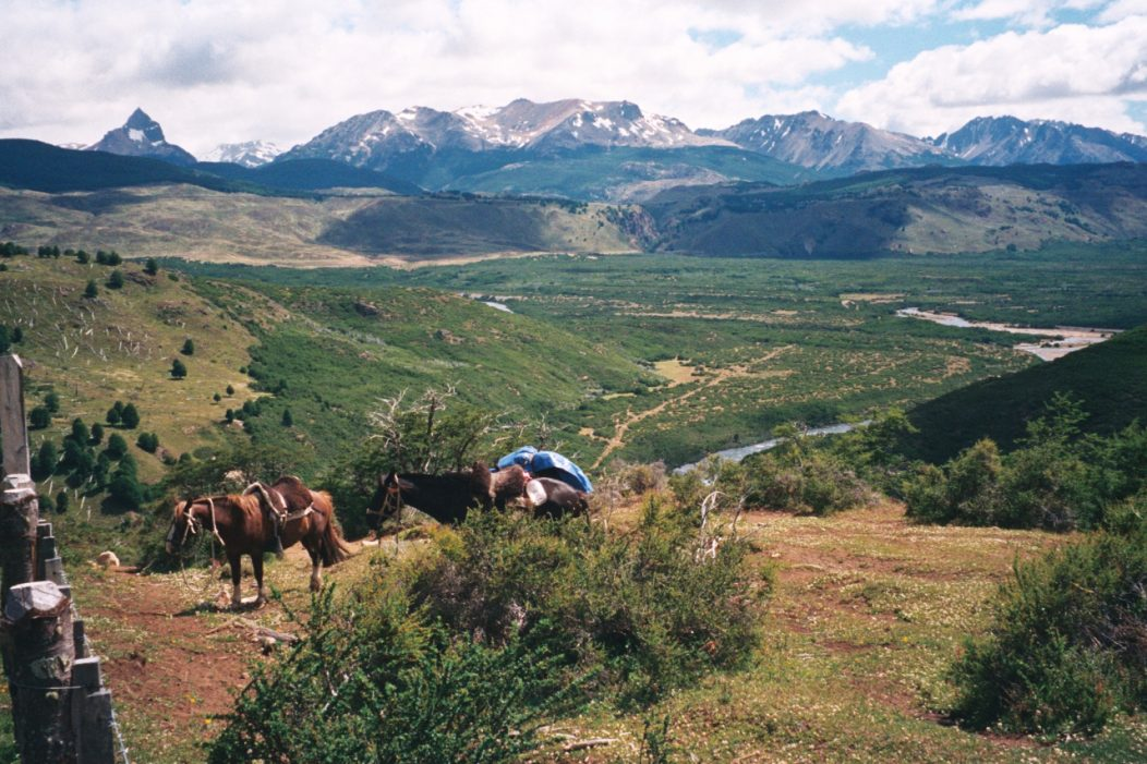 View across Loma Bajo valley, North Aysen, Chile