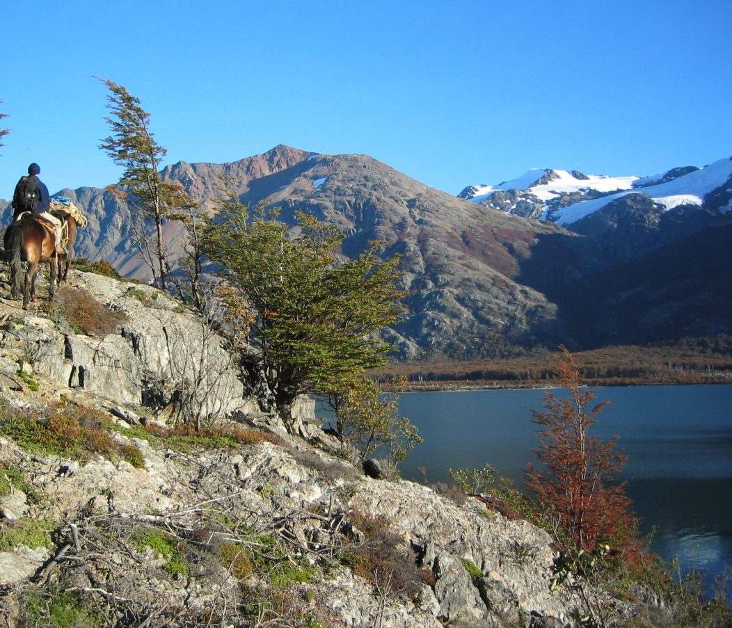 Lago Alegre, South Aysen, Chile, at start of riding the 'unleavened rock'